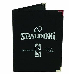 Spalding NBA Pebble Notebook, Black, 8.5 x 11-Inch