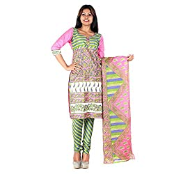 RangoliSF Woman's Cotton Unstitched Dress Material (RSFT1010 Pink)