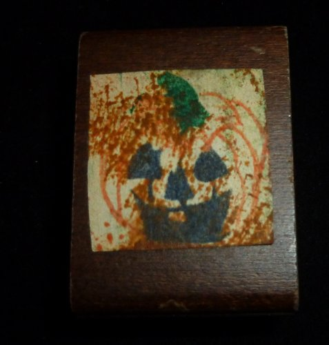 Small Pumpkin Rubber Stamp - 1