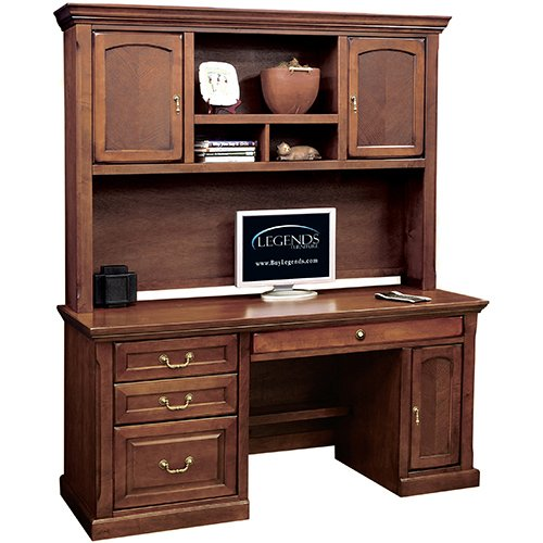 Buy low price comfortable mission 60 computer desk with hutch b004116t68 - Mission style computer desk with hutch ...