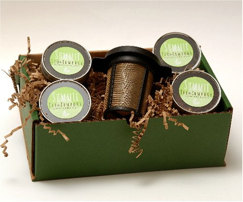 Tea Sampler Gift Box - Our Favorite Collection Of 4 Teas And 1 Finum Medium Brew Basket - Free Gift Wrap!!