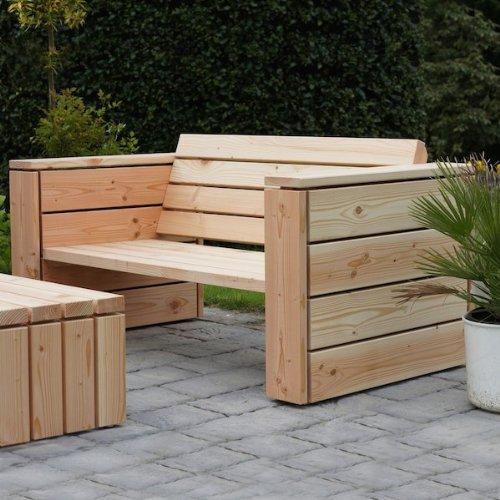 binnen-markt Lounge Sessel XL Heimisches Holz Douglasie Natur günstig kaufen