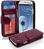 Cadorabo ! PREMIUM - Book Style Hülle im Portemonnaie Design für Samsung Galaxy S3 und S3 NEO (GT-i9300 / GT-i9301) in BORDEAUX-LILA