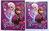 Disney Frozen Elsa & Anna 1 Subject Wide Ruled Notebook & Matching Portfolio 2 Pocket Folder