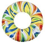 EOZY Piscina de Anillo de La Nadada Inflable de PVC Unisex Multicolor