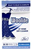 Woolite 11106 Dry Cleaner's Secret (6 Uses)-At Home Dry Cleaner for Fine Fabrics, Hand Washables and Dry Clean Only Clothing