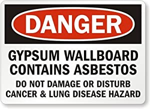 Gypsum wallboard contains asbestos do not for Does gypsum board contain asbestos