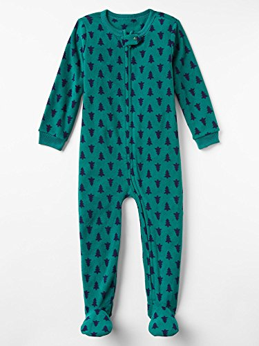Gap Baby Festive Print Fleece Footed Sleep One Piece Size 6-12 M front-920757