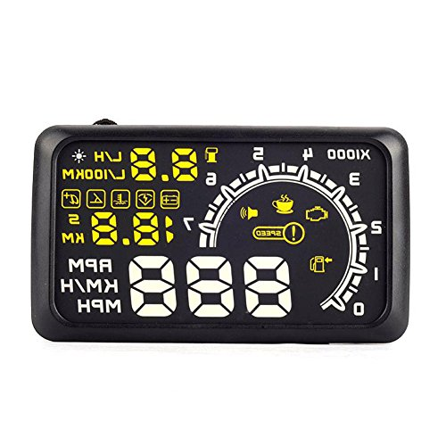 Rupse Universal Car Hud Vehicle Obd-2 Fuel Icon Head Up Display Lcd
