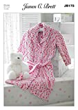 James C Brett Chunky JB175 Baby Dressing Gown 46 71 cm 18 28 ins