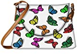 Snoogg colorful butterflies Womens Carry Around Sling Bags