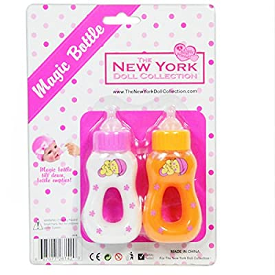 Magic Juice and Milk Bottle Set for Baby Dolls from The New York Doll Collection