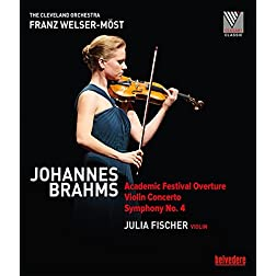 Johannes Brahms: Academic Festival Overture; Violin Concerto; Symphony No. 4 [Blu-ray]