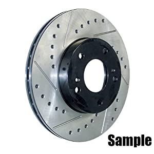 Stop Tech Slotted and Drilled Brake Rotor - FRONT LEFT