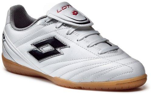 Lotto Stadio Suprema III Indoor Junior Boys Shoes, white / black