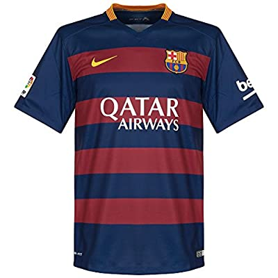 Nike Boys Barcelona Home Stadium Jersey [LOYAL BLUE]