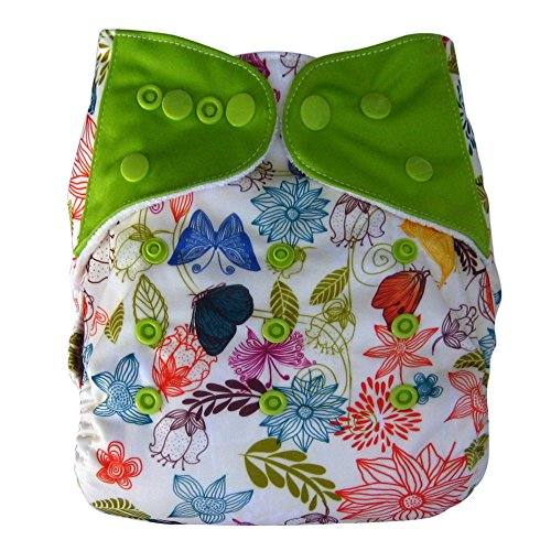 Bamboo All In One Cloth Diaper with Pocket, Spring - 1