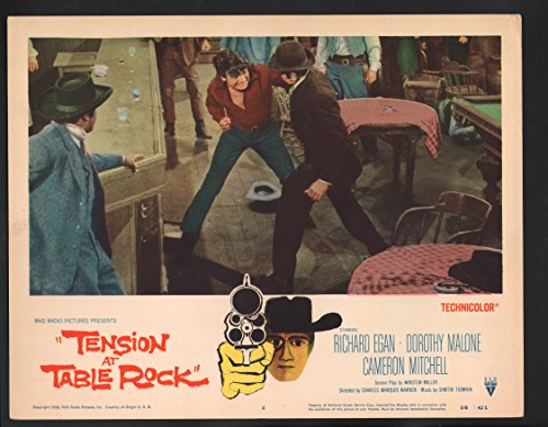 Tension at Table Rock Lobby Card- Richard Egan in a bar fight. (Tension At Table Rock compare prices)