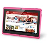 "Vuru T2 7"" Android JellyBean Tablet PC - Multi Touch. 8GB Flash Local Memory. HDMI Port (Bonus HDMI Cable Included). Dual Core CPU. Integrated Dual Camera 2MP - Pink - April 2014"