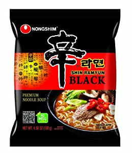 Nongshim Shin Ramyun Noodle Soup Black 458-ounce Pack Of 24 from Nongshim