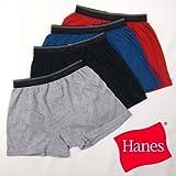 Hanes 【無地】カラーニットトランクス(27-108N)ブラックL