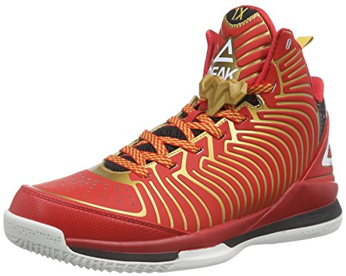 Peak Sport EuropePEAK Basketballschuh Battier IX - Scarpe da Basket Uomo, Rosso (Red/Golden), 43