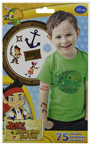 Jake and the Neverland Pirates Temporary Tattoos 75 ct