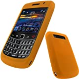 iGadgitz Orange Silicone Skin Case Cover for BlackBerry New Bold 9700 & 9780 + Screen Protectorby iGadgitz