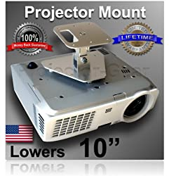 "Projector-Gear Projector Ceiling Mount for INFOCUS X1, X1A, X2, X3 with 10"" Extension"