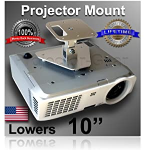 "Projector-Gear Projector Ceiling Mount for SONY VPL-DX140 with 10"" Extension"