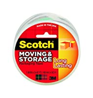 Scotch Long Lasting Moving and Storage Packaging Tape, 1.88 Inch x 54.6 yard - All Mega Pack (10 Rolls) by Scotch