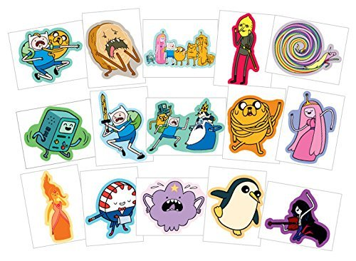Adventure Time Stickers - Series 2 - Complete Set of 15 Large Stickers (Includes Jake, Finn, Princess Bubblegum, Ice King, BMO, Marceline, Lady Rainicorn and more..) - 1