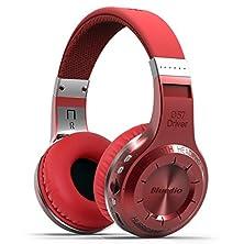 buy Hongyu Bluedio H+(Turbine)Genuine Bluetooth Stereo Wireless Headphones Bulit-In Microphone Micro-Sd Music String/Fm Radio Bt4.1 Over-Ear Headphones Powerful Bass Enjoy-Gift Package(Red)