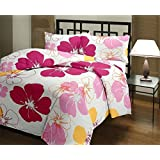 Stylla Shoppers Big Floral Quilt Blue A.C Blanket Double Bed Size Dohar