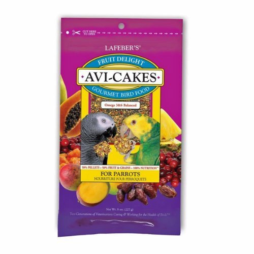 Lafeber Company 8-Ounce Lafeber Avi-Cakes Fruit Delight For Hookbills. Healthy, Omega, Natural