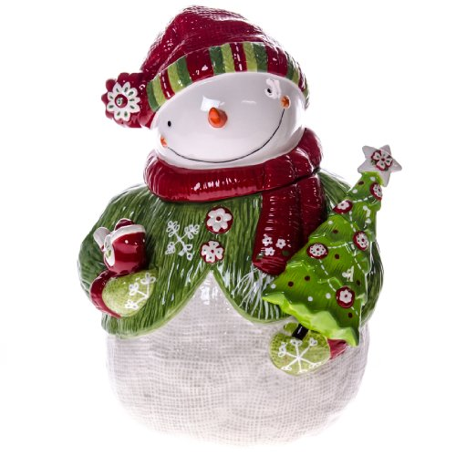 Loblaws Christmas Decorations: Holiday Snowman Cookie Jar : Kitchen & Dining