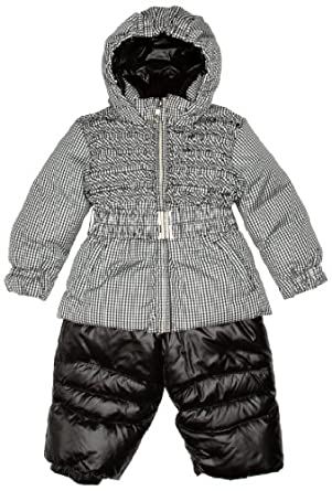 Papermoon Baby Girl's Snowsuit Black/ White 9 - 12 Months