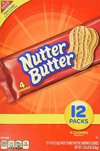 Nutter Butter Peanut Butter Sandwich, 1.9-Ounce Single Serve Bags (Pack of 48) (Single Serve Cheese compare prices)