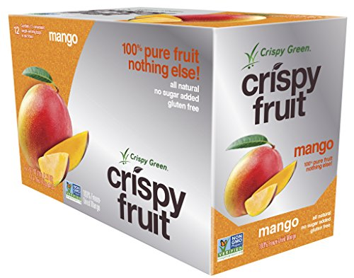 Crispy Green 100% All Natural Freeze-Dried Fruits, Mango, 0.36 Ounce (12 Count) (Green Fruit Snacks compare prices)