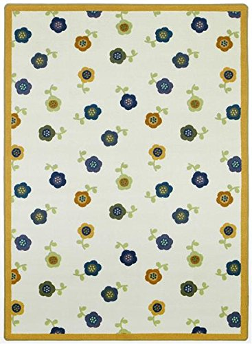 Floral Fascination Premium Cut Pile Stainmaster Nylon Area Rug (3