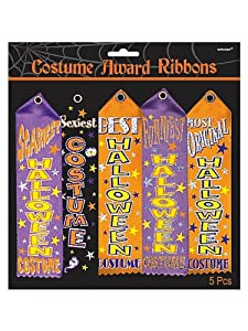 Halloween Costume Contest Award Ribbons - 5 pcs by AMSCAN