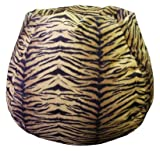 Bean Bag Boys Faux Suede MicroFibres Tiger Print Bean Bag Chair