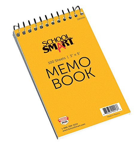 School Smart Memo Notebook - 3 x 5 - Top Opening - Coil Bound - 100 Sheets (Coil Bound compare prices)