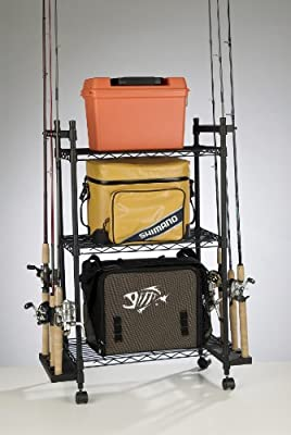 Organized Fishing Tackle Trolley Rolling Wire Rack by Organized Fishing