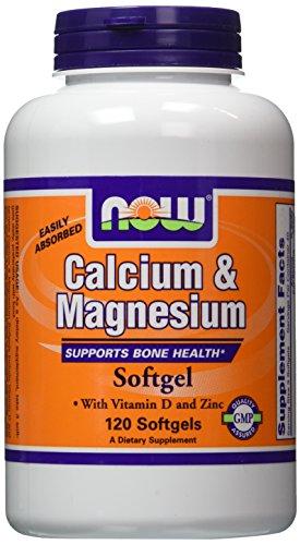 NOW Foods Calcium/Magnesium Plus Vitamin D and Zinc, 120 Softgels