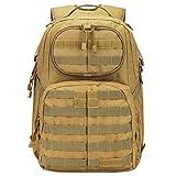 G4Free Multipurpose Tactical BackPack Large Camping Hiking Shoulder Pack 40L (Tan)