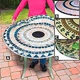 Tile Table Cover, Round Vesuvius Stone (296601)