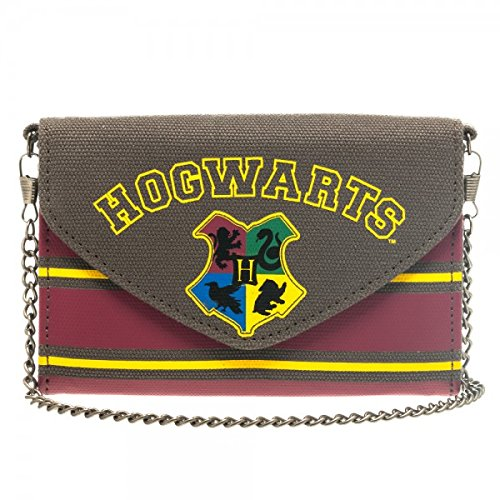 Brand New & Licensed Harry Potter Hogwarts Small Cross Body Wallet W/Chain