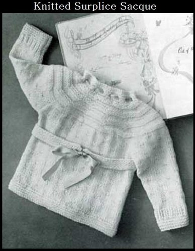KNITTED SURPLICE SACQUE SWEATER - Vintage Baby / Toddler Sweater Knitting Pattern (ePattern) - Instant Download Kindle Ebook - AVAILABLE FOR DOWNLOAD to ... babies, baby clothes, baby patterns)
