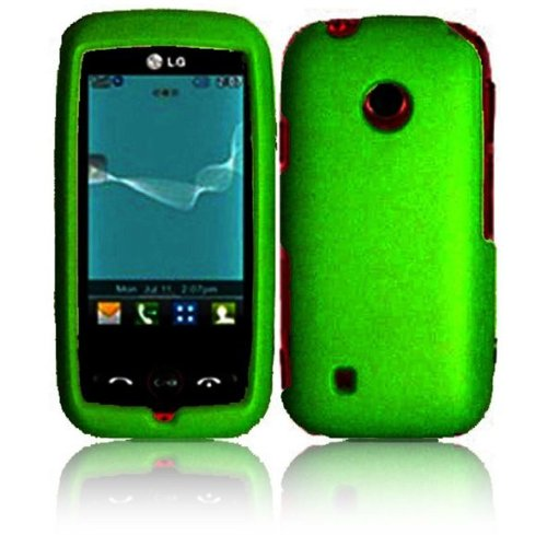 Cell Accessories For Less (Tm) For Lg Beacon Mn270 Attune Un270 Rubberized Cover Case - Dark Green - By Thetargetbuys *Free Shipping*